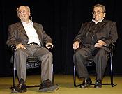 Guillamón y Anglada durante el homenaje que recibió el segundo en la pasada edición del Festival de Torelló. - Foto: desnivelpress.com
