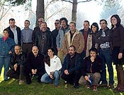 Equipo de Al filo que ha participado en la elaboración de la próxima entrega documental de Al filo, dedicada exclusivamente a su aventura antártica de 2005. - Foto: Jordi Pastor