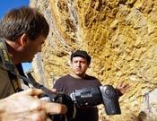 Darío Rodríguez charlando con Jaume Clotet.- Foto: Desnivelpress
