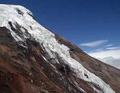 Signos de calentamiento global en el Chimborazo (6.310 m.), la montaña más alta de Ecuador. - Foto: Desnivelpress
