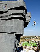 Vista del muro que levantó la empresa Top 30 para la pasada compe de Marbella, Copa del Mundo 2004.- Foto: Desnivelpress