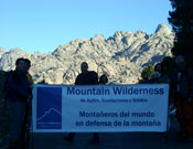 La asociación Mountain Wilderness, presente en el acto.- Foto: Mountain Wilderness