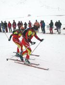 Equipo español haciendo el relevo durante una pasada competición.- Foto: Desnivelpress