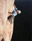 Stefan Glowacz sobre el Pilar Norte del Acopan.- Foto: Klaus Fengler