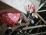 Angela Eiter, actual campeona de la Copa del Mundo de dificultad. Foto: Urban Golob