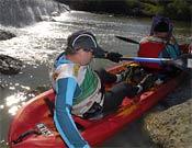 Tras un porteo en la prueba de kayak, en la última etapa.- Foto: raidbimbache.com