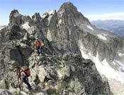 Héctor Ponce de León y Pako Sánchez, conocido en la Cresta de Besiberris en el Pirineo leridano.- Foto: Desnivelpress