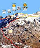 Mapa del itinerario de la edición 2007.Foto: www.trofeomezzalama.org