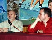 Sebastián Álvaro y David Torres durante La Noche de los Libros.- Foto: Jorge Jiménez