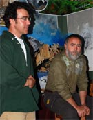 Cristian Biosca, redactor de CO3 y Carlos Rojo el pasado miércoles 25.<br>Foto: Jorge Jiménez