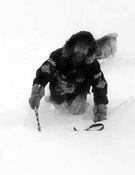 Reinhold Messner en la travesía de la Antártida (1989-1990).- Foto: desnivelpress.com