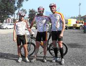 Los tres miembros de la selección española que participaron en el campeonato.- Foto: Col. David Soria