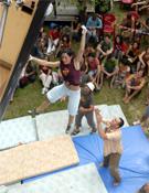 Ruth Planells, vencedora de la competición, probó como todos el vuelo desde las presas más altas.- Foto: desnivelpress.com