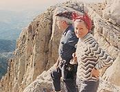 El matrimonio Jolis-Simó en la Penyagolosa, 1974.- Foto: Col. Jolis/Simó