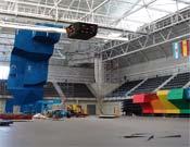 El Pabellón deportivo que acogerá el Campeonato ya va teniendo buen aspecto.- Foto: cwch07.com