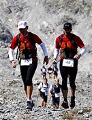Una de las parejas durante el recorrido de esta temporada.- Foto: Org. Transalpine-Run