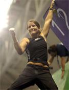 La austriaca Anna Stöhr celebrando la resolución del último bloque de la final.- Foto: cwch07.com