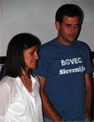 Laura Samsó y David Espinal en la Librería Desnivel.<br>Foto: desnivelpress.com