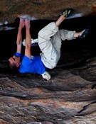 Chris Webb Parsons en Wheel of life (8c+).- Foto: Col. Chris Webb Parsons