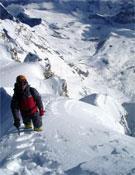 La cantidad de nieve en la montaña no les puso las cosas fáciles a los argentinos.- Foto: Col. Cevallos y Sacchi