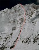 La ruta británica a la Suroeste del Shisha Pangma.- Foto: Col. Cevallos y Sacchi