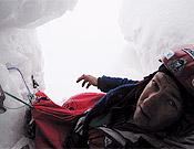 Humar en su refugio de hielo, donde permaneció seis días, en el Nanga Parbat.- Foto: humar.com