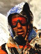 El alpinista, afincado en Madrid, Jonás Cruces, en el Cotopaxi.- Foto: Col. Jonás Cruces