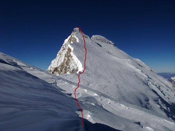 La ruta de Humar hasta la cumbre Este.- Foto: Col. Tomaz Humar