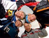 Los miembros del equipo que participaron en la prueba.- Foto: Col. Teva-La Pinilla