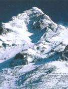 Arista SE del Everest desde el Collado Sur: se aprecia al fondo la Cumbre Sur.- Foto: Col. Juanito Oiarzabal