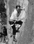 El Tío José en una de sus escaladas.- Foto: Archivo Desnivel
