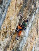 Steve McClure en uno de los 8b+ de la escuela de Sella.- Foto: ukclimbing.com