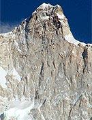 Vista de la parte superior de la cara norte del Jannu.- Foto: Oleg Zagainov/ russianclimb.com