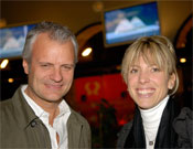 Katia Lafaille y Christian Deleau, director de La montagne perdue.- Foto: desnivelpress.com