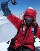 Iván en la cima del Broad Peak, en 2007.- Foto: ivanvallejo.com