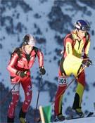 Kilian Jornet, a la izquierda, volvió a lucirse en una prueba internacional.- Foto: desnivelpress.com
