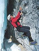Iñaki probando Boyd Mistery, M8, durante su visita a Hafner Creek en 2002.<br>Foto: Col. Iñaki Cabo