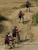 Prueba de bicicleta de montaña de una pasada edición del Bimbache Extrem.- Foto: meridianoraid.com