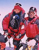 Pemba Doma Sherpa en la cima del Everest.- Foto: pdeverest.com