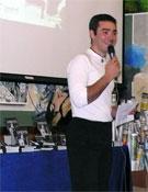 Raúl Lora durante la presentación de la guía.- Foto: Ángel Pablo Corral