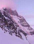 La ruta de Anderson y House al Mt. Alberta.- Foto: Vince Anderson