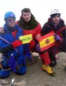 Miembros de una expedición del GMAM en la cima del Orizaba (5.754 m).- Foto: Cortesía GMAM