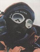 Darío Brácali, en 2002, cuando coronaba el Cho Oyu, en solitario y sin utilizar O2 artificial.<br>Foto: Col. Darío Brácali