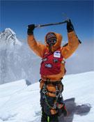 Santiago en la cima del Broad, en 2007.- Foto: Col. Santiago Quintero