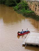 Inicio de la sección de Kayak durante la jornada de ayer.- Foto: Org. Bimbache Extrem