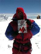 Xavi Arias en la cima del Cho Oyu, el pasado otoño.- Foto: Xavi Arias