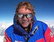 Iñaki Ochoa en la cima del K2.- Foto: navarra8000.com