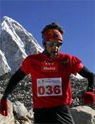Juan Antonio Alegre durante la carrera.- Foto: Col. Juan Antonio Alegre