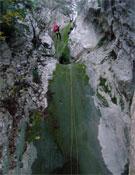 Otra toma en el descenso de Mikro Seitiani.<br>Foto: Cortesía de Laura Samsó y Joan L. Haro