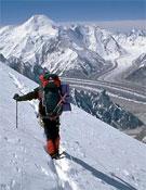 Simone en el Broad Peak en 2007.- Foto: Simone Moro
